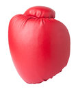 Red boxing glove isolated on white background Stock Image