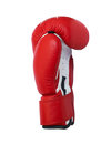 Red boxing glove and white Royalty Free Stock Image