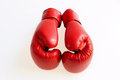 Red boxing gloves on a white background Royalty Free Stock Image