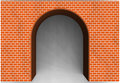 Red brick archway background texture Stock Image