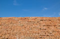 Red brick with blue sky Royalty Free Stock Photo