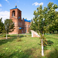 Red brick church Royalty Free Stock Photo