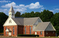 Red brick church Stock Photography