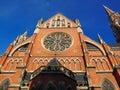 Red brick church Royalty Free Stock Photo