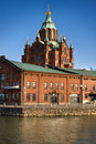 Red brick church in Helsinki Royalty Free Stock Image