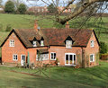 Red Brick English Rural House Royalty Free Stock Photo