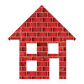 Red brick house Royalty Free Stock Image