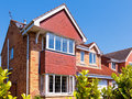 Red brick house Royalty Free Stock Photo
