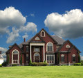 Red Brick Mansion Royalty Free Stock Photo