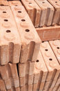 Red brick materials for construction raw material work Royalty Free Stock Photography