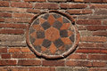Red brick mosaic Pompeii Naples Royalty Free Stock Photography