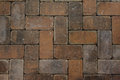 Red brick paving stones texture Royalty Free Stock Photo