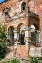 Red brick porch of former Kikin Ermolov mansion, Ryazan region, Russia Royalty Free Stock Photo