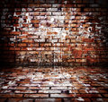 Red brick room Royalty Free Stock Photos