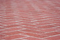 Red brick sidewalk a image taken in the town of chesapeake maryland Royalty Free Stock Images