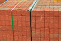 Red Brick Stack Royalty Free Stock Photo