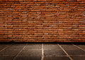 Red brick Structure of the walls and cement  flooring. Royalty Free Stock Photo