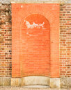 Red brick vault Royalty Free Stock Photos