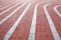 Red Brick Walkway Royalty Free Stock Photo