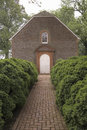 Red brick walkway to Westover Parish, Royalty Free Stock Images