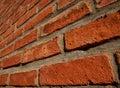 Red Brick Wall At An Angle