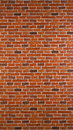 Red brick wall background effect rustic texture Royalty Free Stock Images