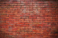 Red brick wall backgrounds Royalty Free Stock Photo