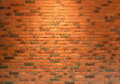 Red brick wall close up texture background, seamless