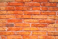 Red brick wall closeup of a made of bricks Stock Photos
