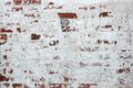 Red Brick Wall With Damaged White Plaster Background Royalty Free Stock Photo