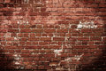 Red brick wall dark texture grunge texture Royalty Free Stock Image