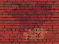 Red brick wall dirty background. Stock Photo