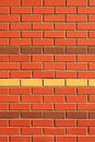 Red Brick Wall with Feature Rows Royalty Free Stock Image