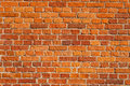 Red brick wall old background Stock Photos