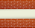 Red brick wall and place for text construction background with Royalty Free Stock Images