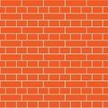 Red brick wall seamless pattern