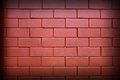 Red brick wall, square format Royalty Free Stock Image