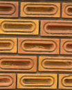 Red brick wall, square format Royalty Free Stock Images