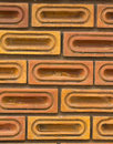 Red brick wall, square format Stock Images
