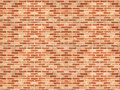 Red brick wall in the street Royalty Free Stock Images