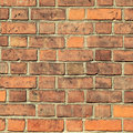 Red brick wall texture background square vintage toned image Stock Photos