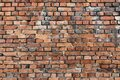 Red brick wall texture. Empty old and grunge brickwork pattern for interior design and decoration. Vintage background or wallpaper Royalty Free Stock Photo