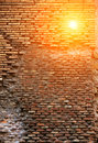 Red brick wall texture grunge background Royalty Free Stock Photo