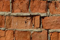 Red brick wall texture grunge background , may use to interior design. Royalty Free Stock Photo