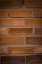 Red brick wall texture grunge background with vignetted corners, may use to interior design Royalty Free Stock Photo