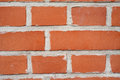 Red brick wall texture. Wall made of bricks. Royalty Free Stock Photo