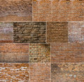 Red brick wall textures Royalty Free Stock Photo