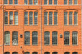 Red brick wall & windows. Industrial landscape. Norrkoping. Sweden Royalty Free Stock Photo