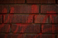 Red brick wall with writing Royalty Free Stock Photos