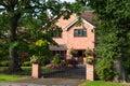 Red bricked family house Royalty Free Stock Photo